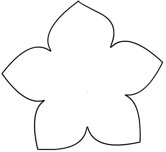 Трафарет – цветок3