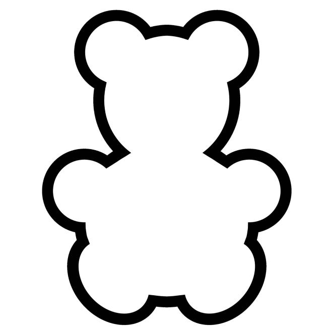 Трафарет - Мишка
