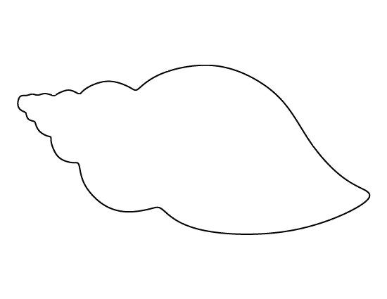Трафарет - ракушка