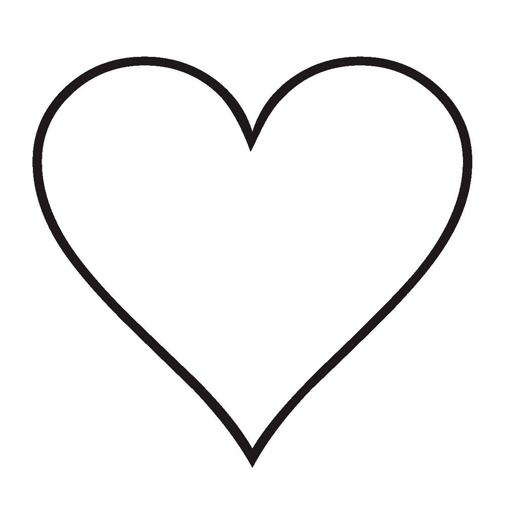 Трафарет - сердечко