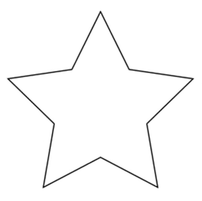 Трафарет – звездочка