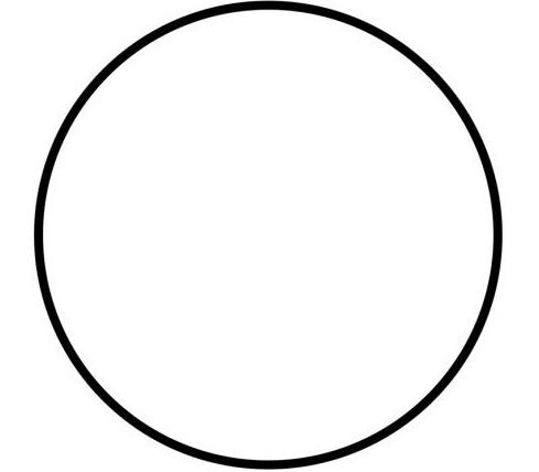 Трафарет – кружок