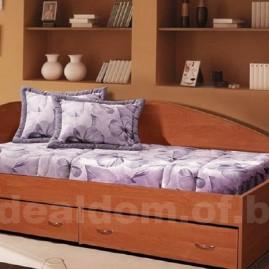 Односпальная кровать с ящиками 800
