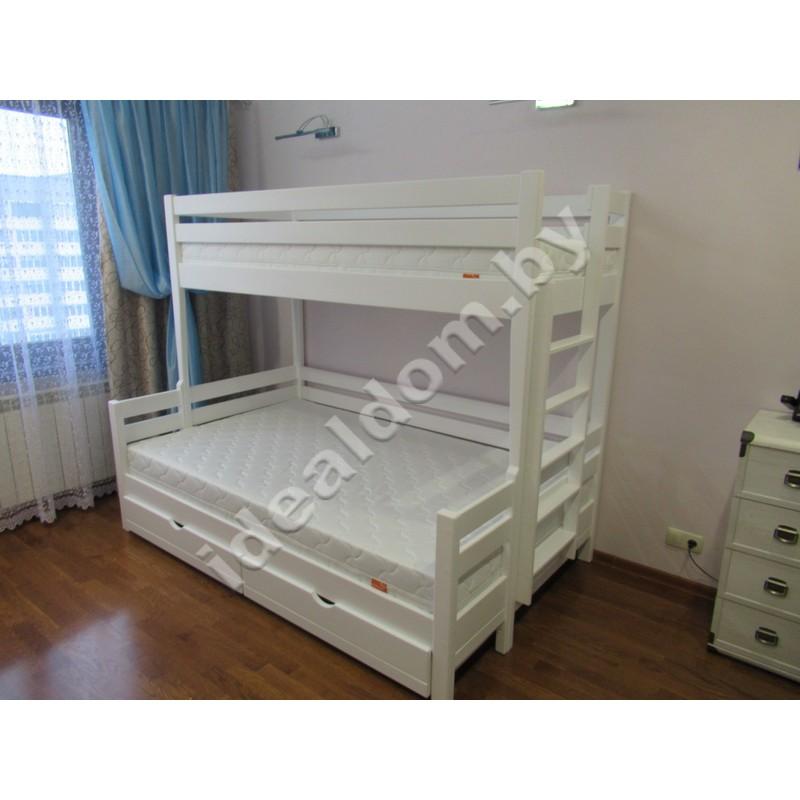 """Кровать трёхспальная """"Тетрис"""" с ящиками"""