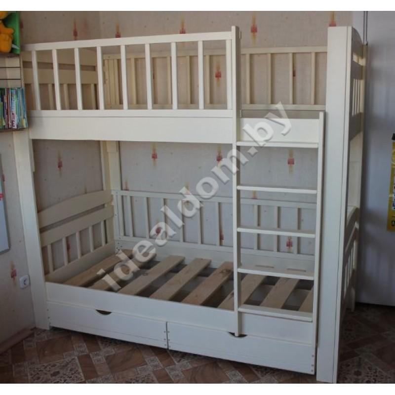 """Двухъярусная кровать-манеж """"Колизей"""" с ящиками"""