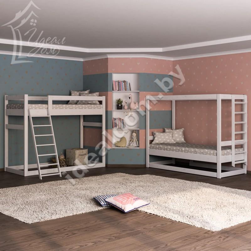 Двусторонняя кровать-чердак «Перевёртыш»