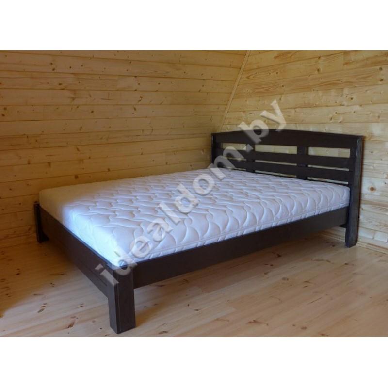 """Кровать двуспальная """"Купидон-4"""" из массива дерева"""