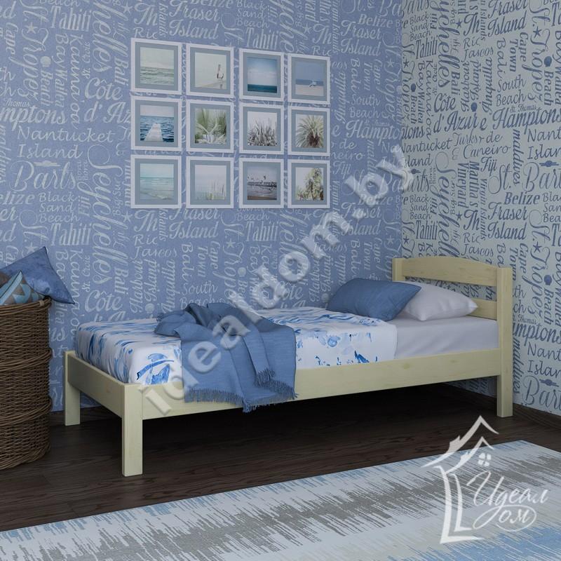 """Кровать односпальная из массива """"Колибри"""""""