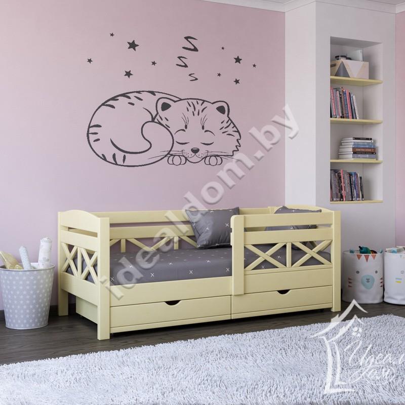 """Кровать односпальная """"Семь Гномов"""" для детей с ящиками"""