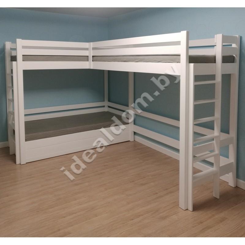 """3-х ярусная кровать """"Гулливер-2"""" с подъемным механизмом"""