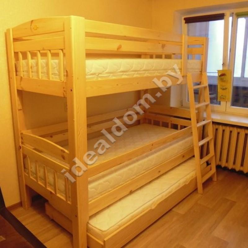 """Двухъярусная кровать """"Геркулес-Люкс"""" с выкатным ярусом"""
