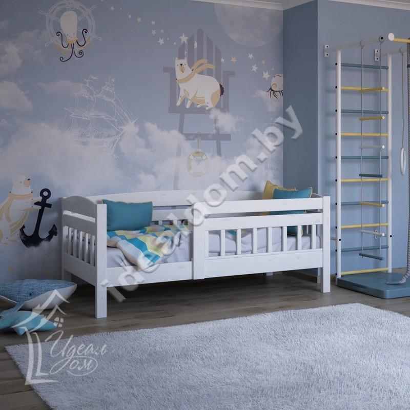 """Детская односпальная кровать """"Малыш-2"""" c бортиком"""