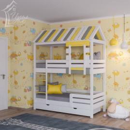 """Двухъярусная кровать-дом """"Теремок"""" с ящиками"""