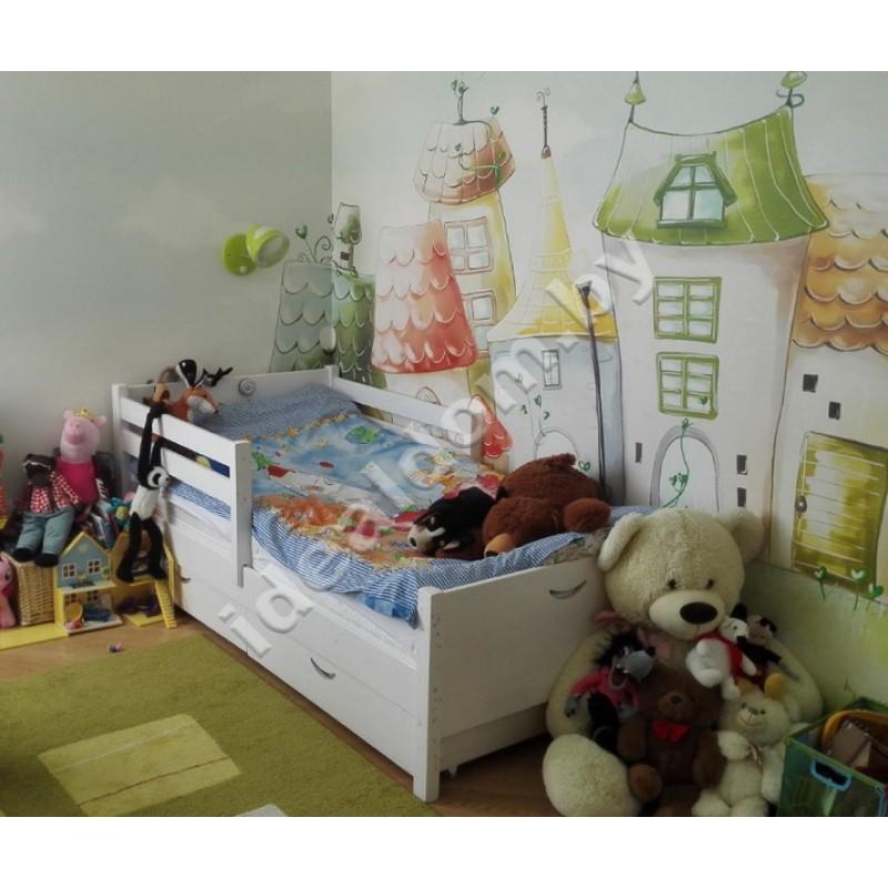 """Детская односпальная кровать """"Улыбка"""" с ящиками"""