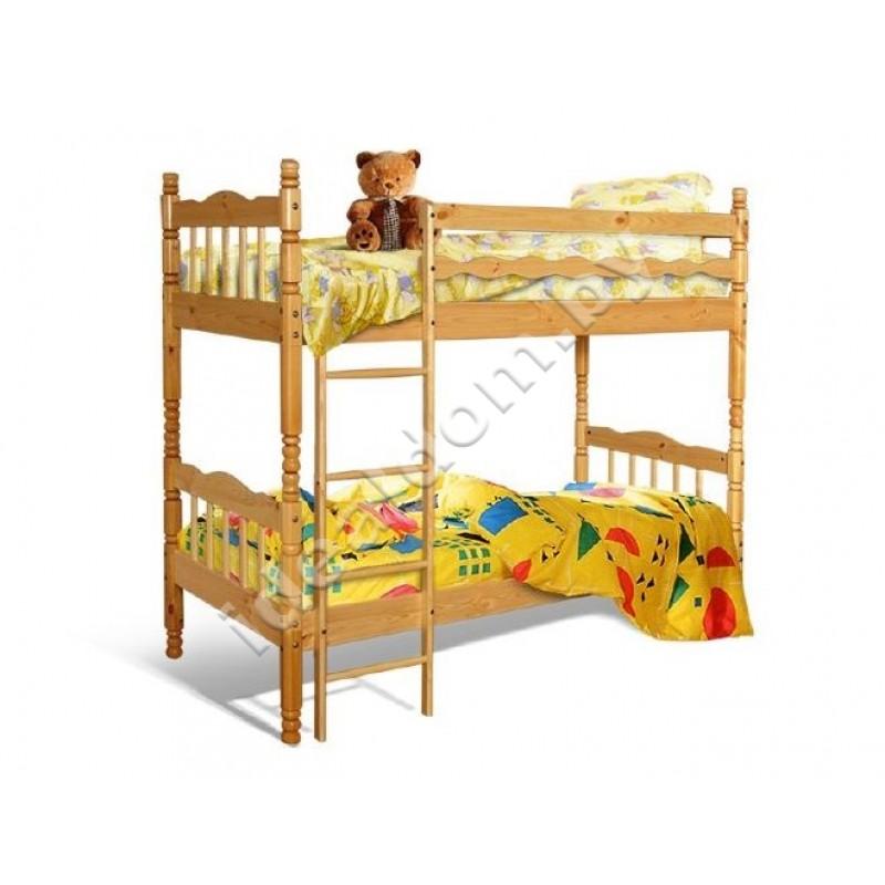 Двухъярусная кровать-трансформер КРД-01, резная