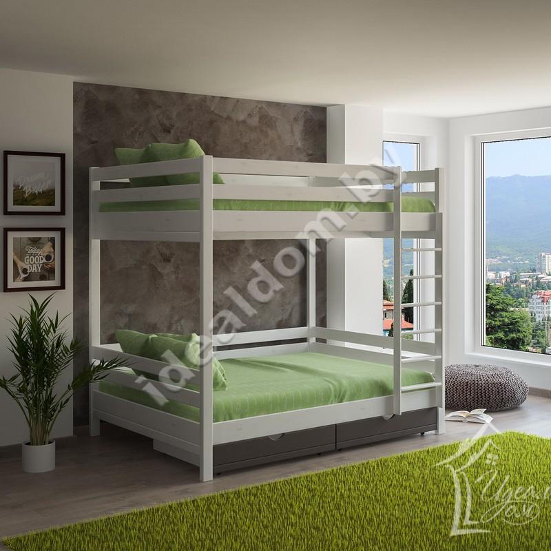 """Двухъярусная кровать """"Богатырь-2"""" на 4 места с ящиками"""