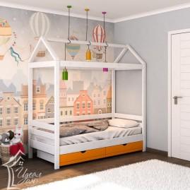 """Кровать односпальная """"Домик"""" с ящиками"""