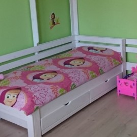 """Кровать односпальная """"Магия"""" с двумя спинками и ящиками"""
