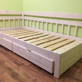 """Односпальная кровать """"Славянка-3"""" с ящиками"""