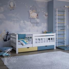 """Детская деревянная кровать """"Малыш-2"""" с шуфлядками"""