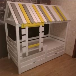 """Кровать-дом """"Сказка"""" с ящиками"""
