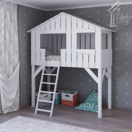 Кровать-чердак «Хижина»