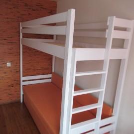 """Кровать-чердак """"Пилот с торцевой лестницей"""""""