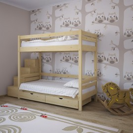 """Двухъярусная кровать со ступеньками """"Топтышка"""""""