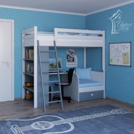 """Кровать """"Альянс"""" со столом, стеллажом и съемной лестницей"""
