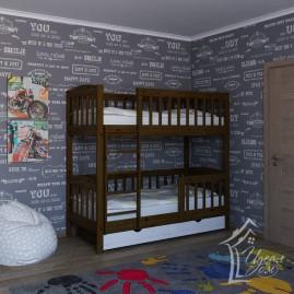 """Детская двухъярусная кровать """"Легенда"""" с ящиками"""