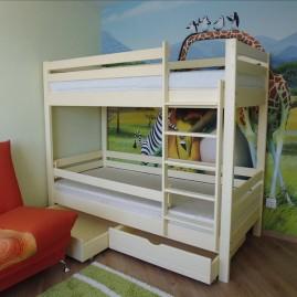 """2-х ярусная кровать """"Силач-Люкс"""" с ящиками, топлёное молоко"""