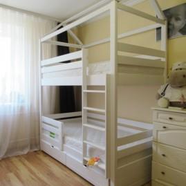 """Двухъярусная кровать-дом """"Теремок-Лайт"""" с ящиками"""