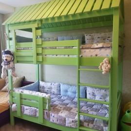 """Двухъярусная кровать-домик """"Теремок"""""""