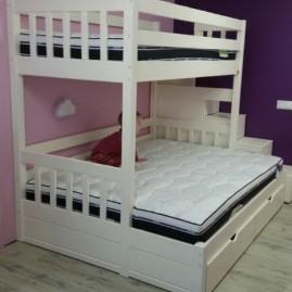 """Кровать 3-х спальная """"Соло"""" со ступеньками"""