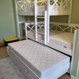 """Трёхъярусная кровать """"Дива"""" с ящиками на направляющих"""