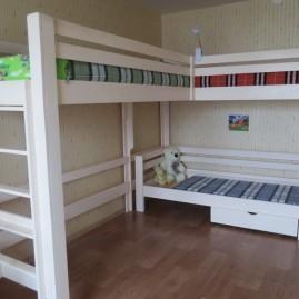 """Трехъярусная кровать """"Гулливер"""""""