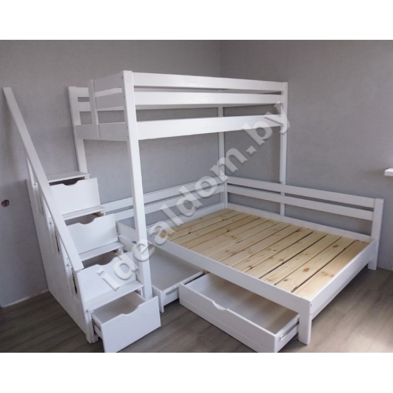 """Двухъярусная кровать """"Домовенок-Максимус"""", угловая"""