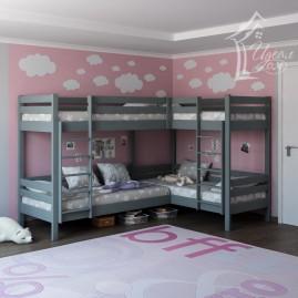 """Двухъярусная кровать """"Фортуна"""" на 4-е спальных места"""
