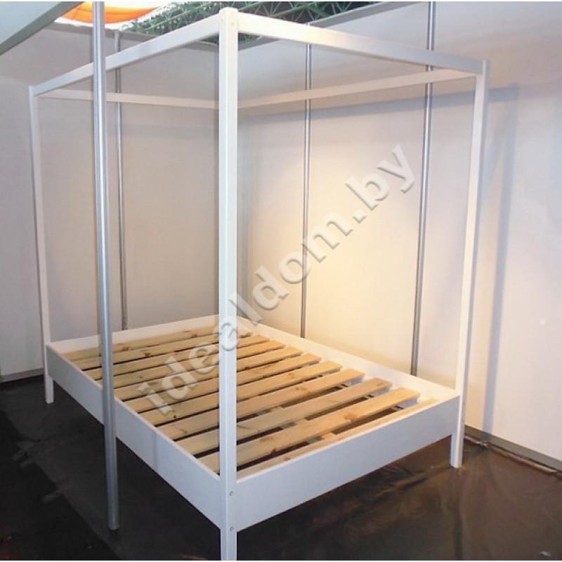 """Двуспальная кровать """"Интрига"""" со стойками под балдахин"""