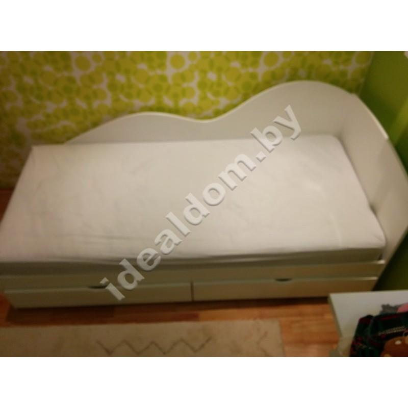 """Односпальная кровать с ящиками """"Волна"""""""